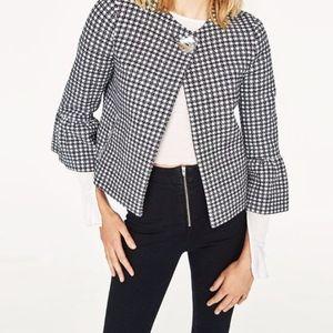Zara Gingham Check Cardigan Jacket Fall 2017